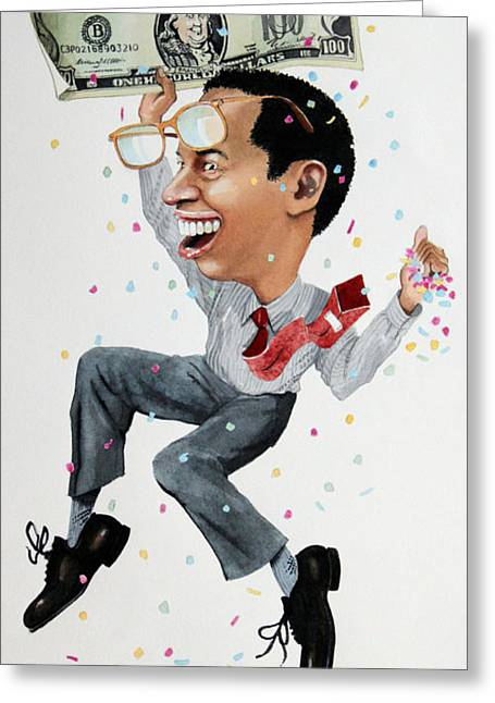 Confetti Man Greeting Card by Denny Bond