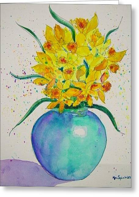 Confetti Greeting Card by Ron Sylvia