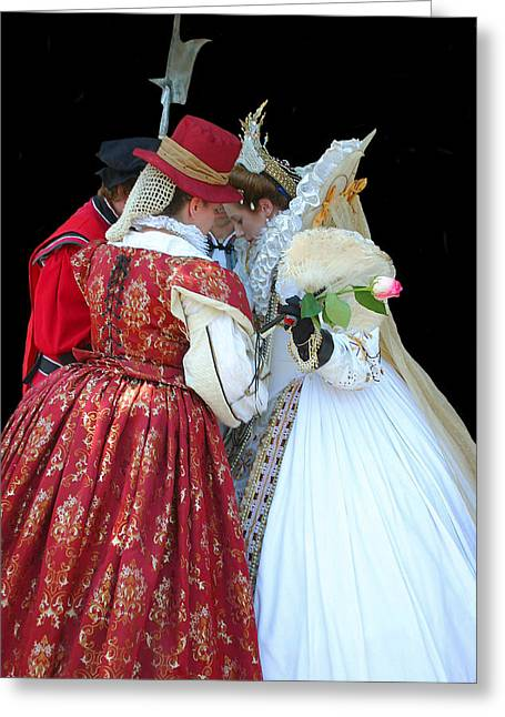 Lady In Waiting Greeting Cards - Confidentiality Greeting Card by Kristin Elmquist