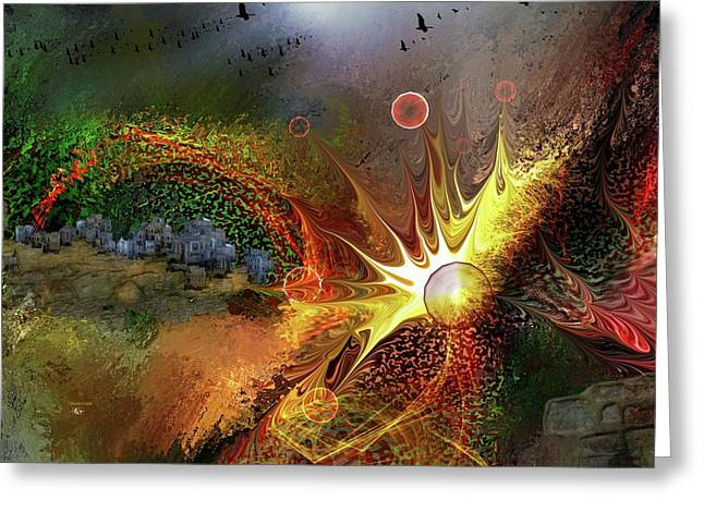Conflagration  Greeting Card by Francoise Dugourd-Caput