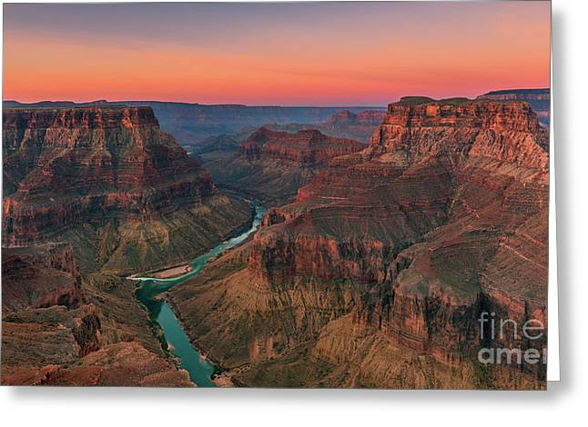 Confluence Point, Grand Canyon N.p, Arizona Greeting Card