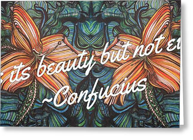 Confucius Beauty  Greeting Card