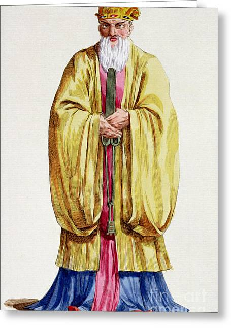 Confucius Greeting Card by Pierre Duflos