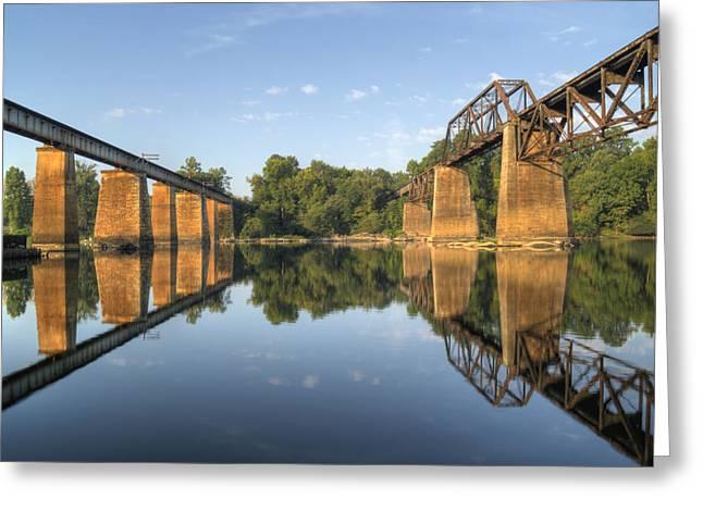 Congaree River Rr Trestles - 1 Greeting Card