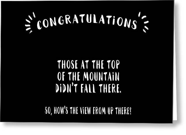 Congratulations, Well Done Greeting Card