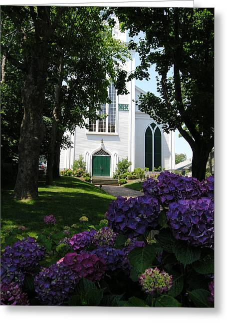 Congregational Church Nantucket Greeting Card