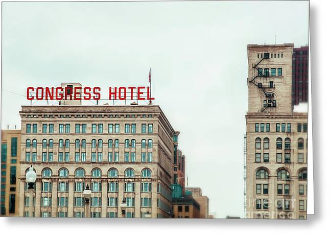 Congress Hotel Chicago Greeting Card