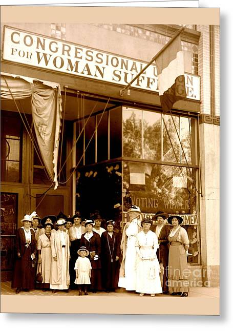 Congressional Union For Woman Suffrage Colorado Headquarters 1914 Greeting Card