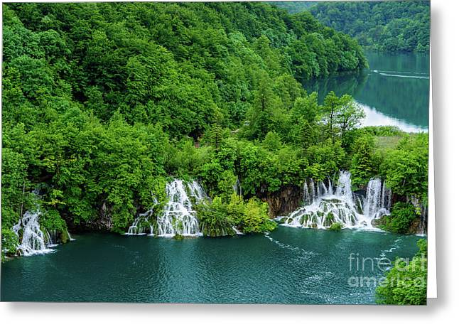 Connected By Waterfalls - Plitvice Lakes National Park, Croatia Greeting Card
