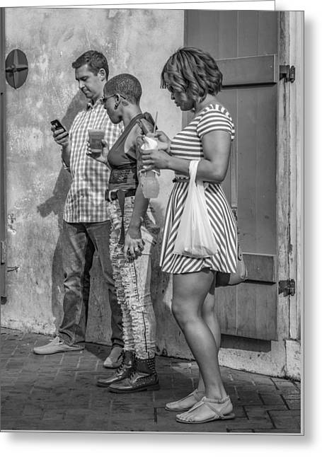 Connected Disconnect Bw Greeting Card