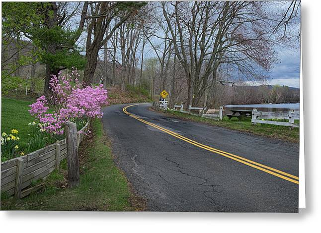 Greeting Card featuring the photograph Connecticut Country Road by Bill Wakeley