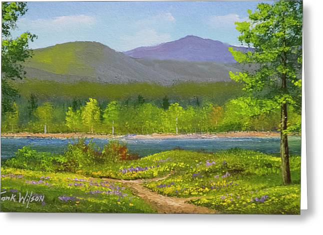 Connecticut River Spring Greeting Card by Frank Wilson