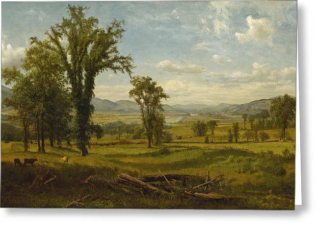 Connecticut River Valley, Claremont, New Hampshire Greeting Card