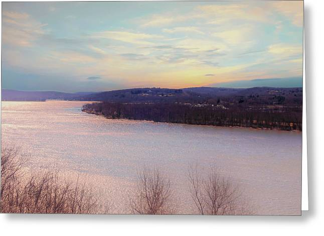 Connecticut River View From Gillette Castle. Greeting Card