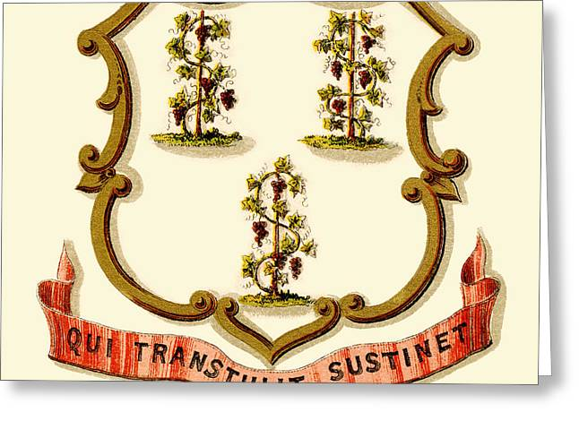Connecticut State Arms Of The Union Greeting Card