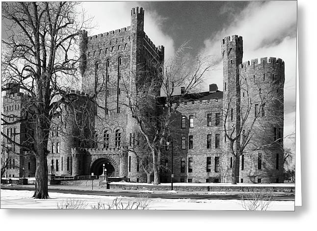 Greeting Card featuring the photograph Connecticut Street Armory 3997b by Guy Whiteley