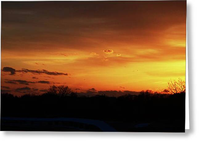 Connecticut Sunset Greeting Card by Gordon Mooneyhan