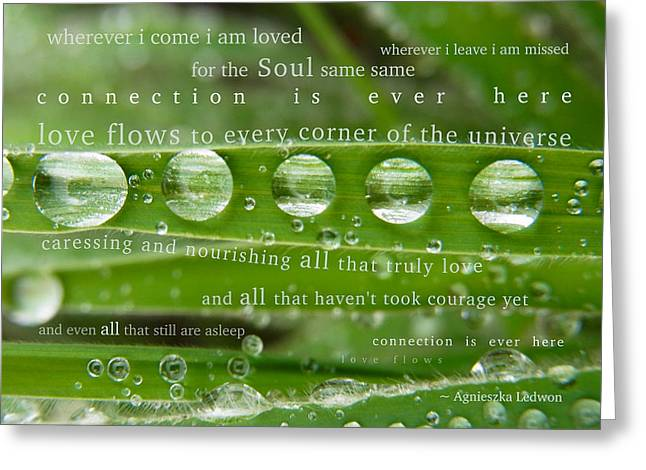 Connection Is Ever Here Greeting Card