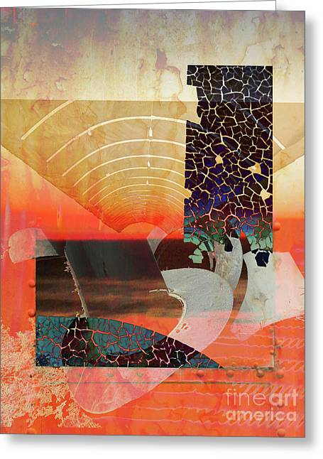 Connections In Space Greeting Card by Robert Ball