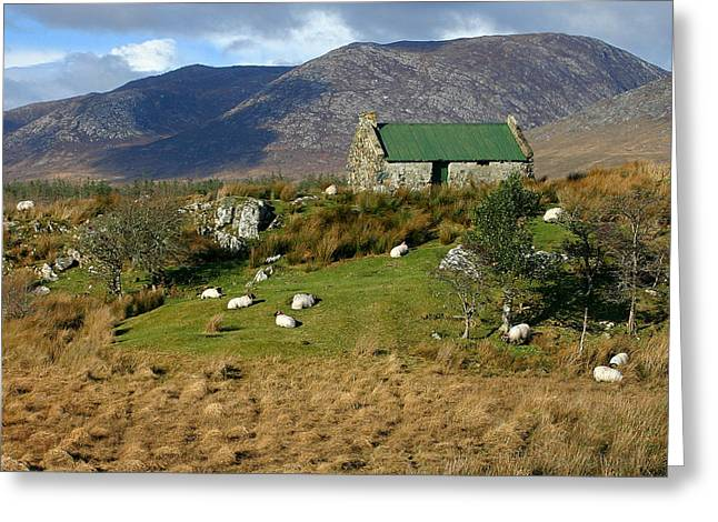 Connemara Cottage Ireland Greeting Card by Pierre Leclerc Photography