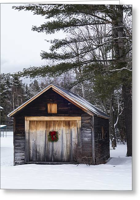Connie Davis Watson Park In Conway New Hampshire Shack Greeting Card by Toby McGuire