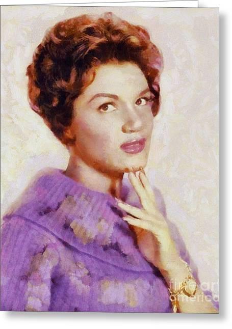 Connie Francis, Vintage Singer Greeting Card by Sarah Kirk