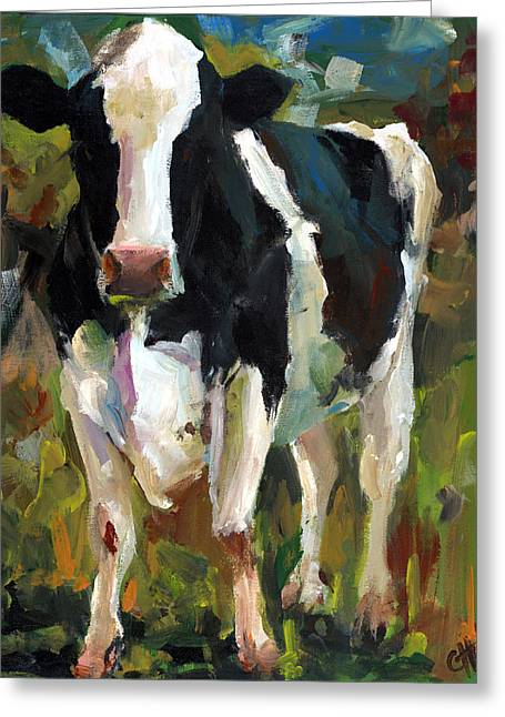 Connie The Cow Greeting Card by Cari Humphry