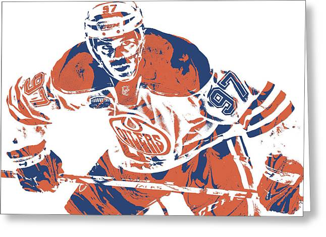 Connor Mcdavid Edmonton Oilers Pixel Art 1 Greeting Card