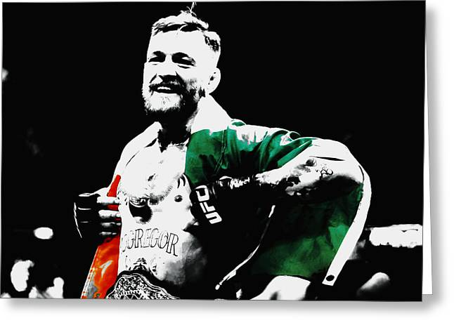 Conor Mcgregor Greeting Card by Brian Reaves