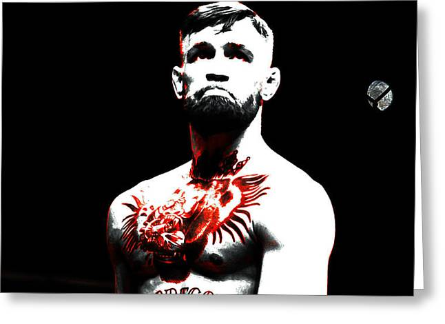 Conor Mcgregor The Ultimate Warrior Greeting Card by Brian Reaves