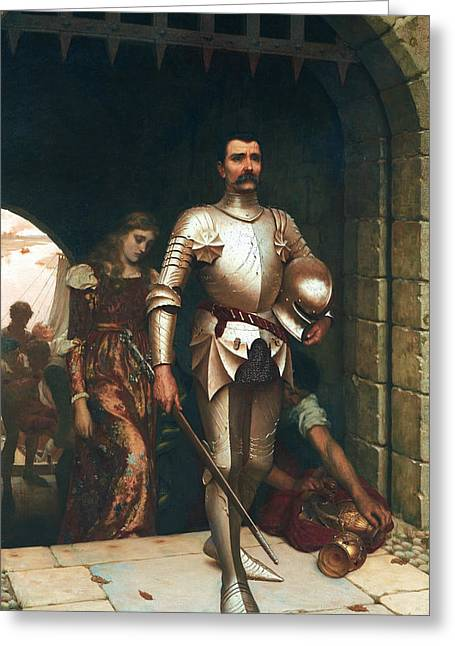 Conquest Greeting Card by Edmund Leighton