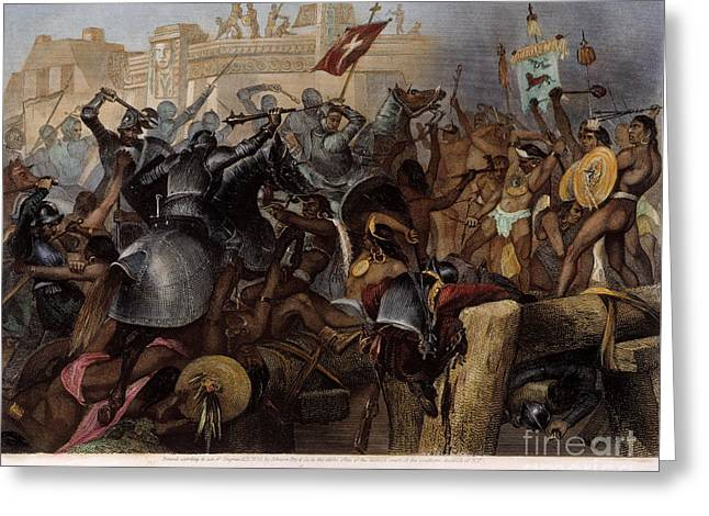 Conquest Of Mexico, 1521 Greeting Card