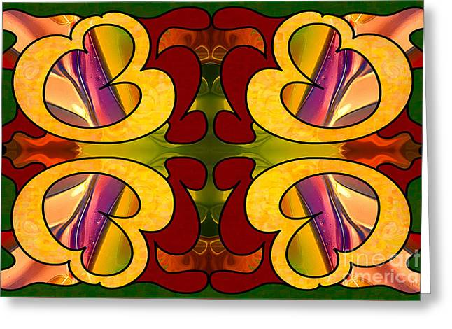 Conscious Cooperations Abstract Art By Omashte Greeting Card by Omaste Witkowski