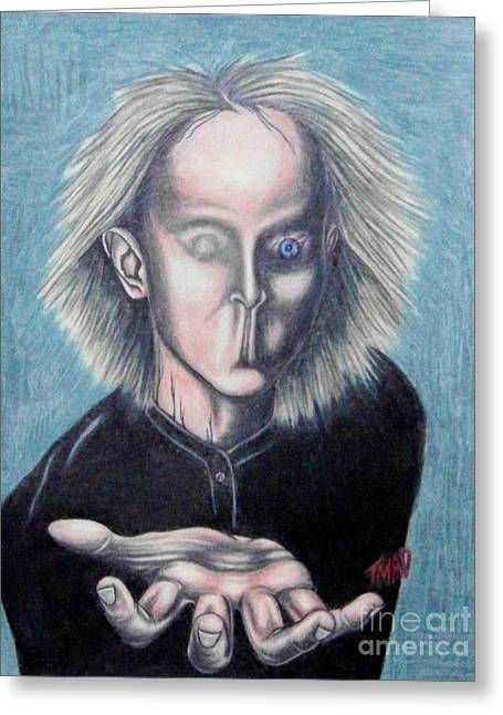 Psycho Drawings Greeting Cards - Consciousness Greeting Card by Michael  TMAD Finney