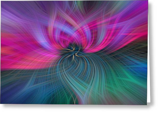 Consciousness. Pink Green Abstract Greeting Card
