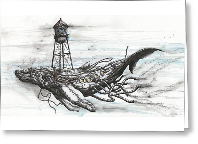 Conservation Reserve For Whale In Peril Greeting Card