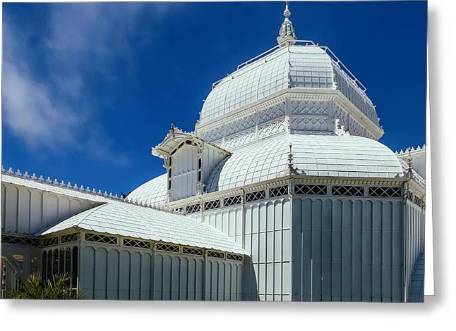 Conservatory Of Flowers Detail Greeting Card by Garry Gay
