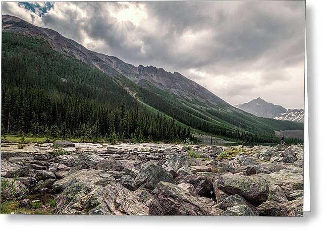 Consolation Lakes And Boulders Greeting Card