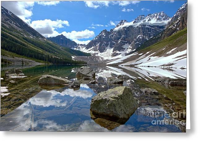 Consolation Lakes Reflections Greeting Card