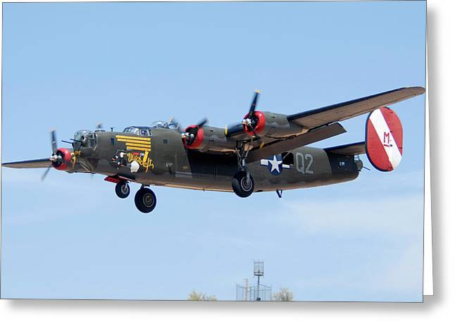 Consolidated B-24j Liberator N224j Witchcraft Deer Valley Airport Arizona April 20 2011  Greeting Card by Brian Lockett