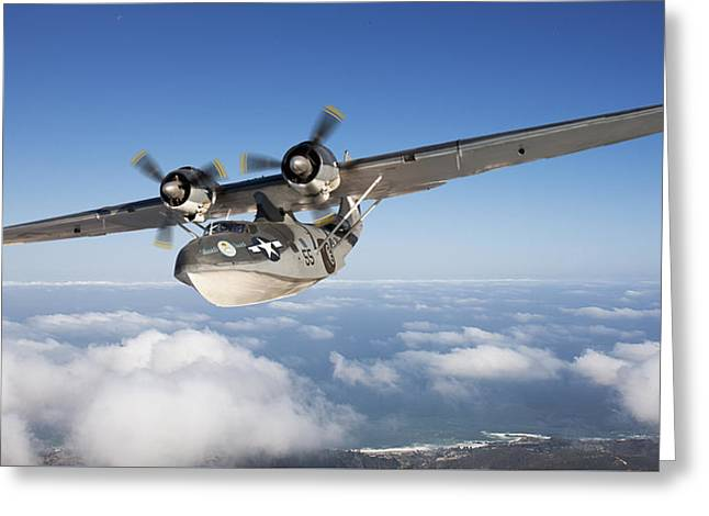 Consolidated Pby Catalina Greeting Card by Larry McManus