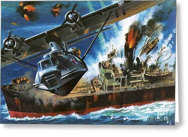 Consolidated Pby Catalina Greeting Card by Wilf Hardy