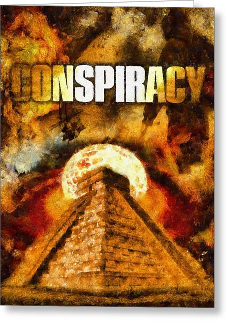 Conspiracy Greeting Card by Esoterica Art Agency
