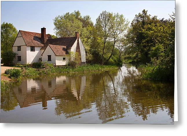 Constable Country The Hay Wain Greeting Card by Ian Merton