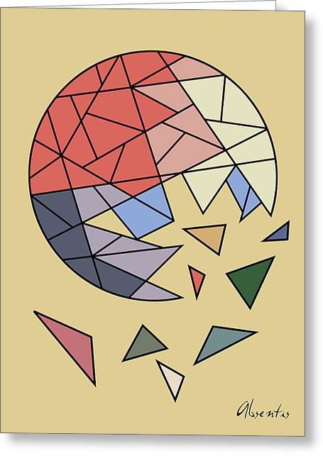 Constant Evolution Greeting Card by Absentis Designs