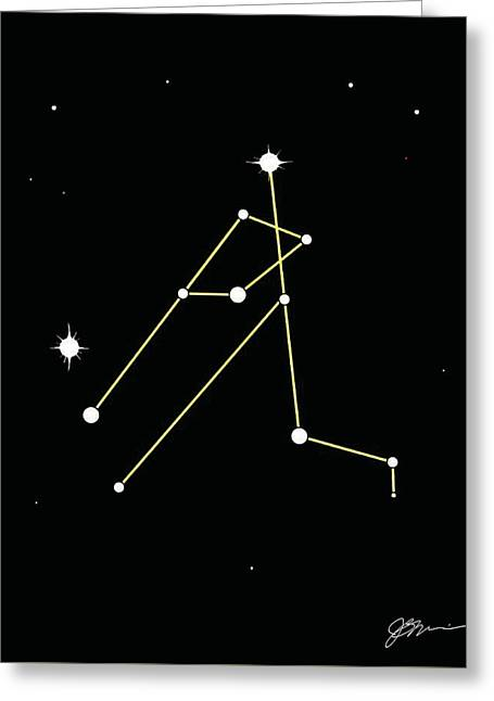 Constellation Greeting Card by Jerry Watkins