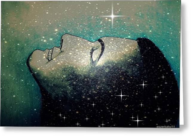 Ideal Mixed Media Greeting Cards - Constellation Of Dreams Greeting Card by Paulo Zerbato