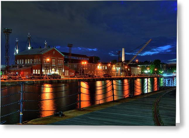 Constitution Marina - Boston Navy Yard Greeting Card
