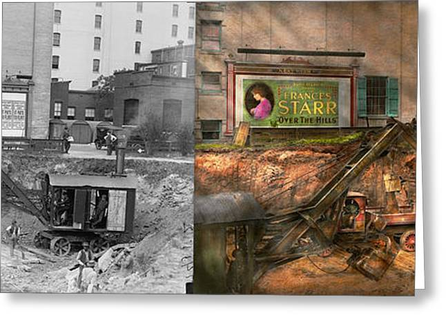 Construction - It Pays To Flirt 1916 - Side By Side Greeting Card
