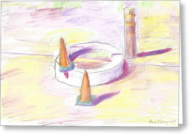Construction Items Greeting Card by Paul Thompson